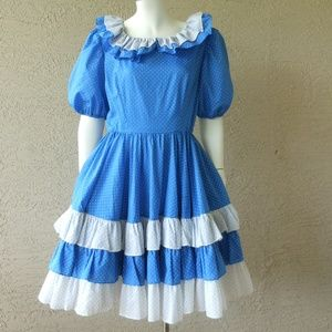 Square Dance Dress Costume Polka Dot Print